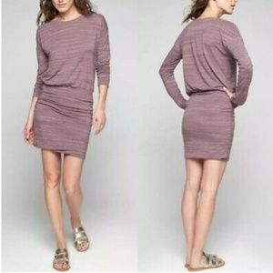 Athleta Avenues Dress Purple Ruched Medium